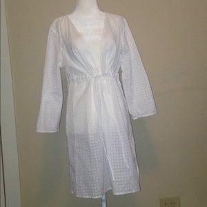 Talbots cover up white 100% cotton